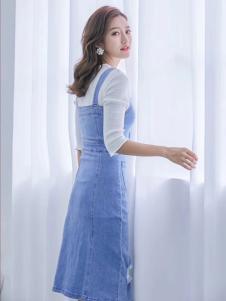 M+牛仔裙