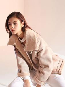LUDICO女装杏色宽松外套