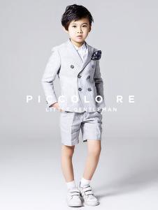 小皇帝童装灰色双排扣小西装套装