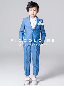 小皇帝童装蓝色小西装套装
