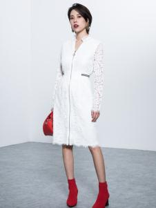 Ms.Leyna女装2018白色蕾丝裙