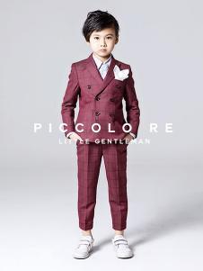小皇帝童装红色时尚小西装套装