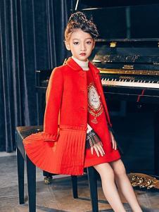 瑞比克童装红色时尚外套