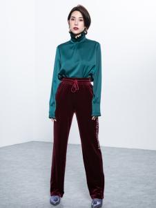Ms.Leyna女装2018绿色衬衫