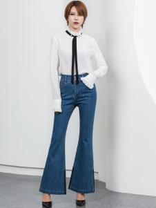 Ms.Leyna女装2018白色衬衫
