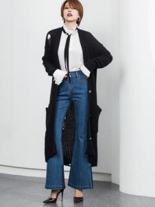 Ms.Leyna女装2018黑色开衫