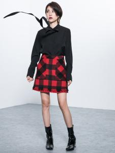 Ms.Leyna女装2018黑色衬衫