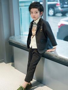瑞比克童装灰色时尚小西装