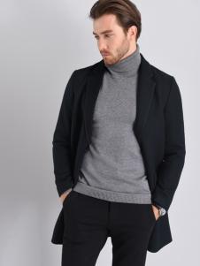 2018恩咖男装黑色外套