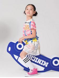 MINICHOC童装时尚休闲女裙