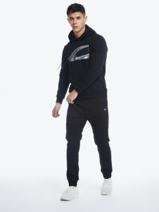 camel active男装2018黑色运动卫衣