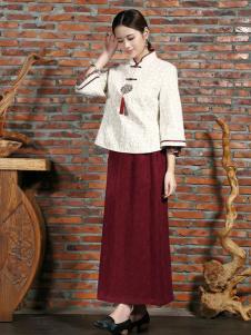 木棉道红色连衣裙
