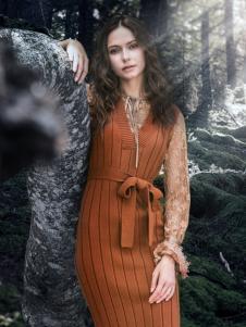 YINFEI音非2018秋冬新款针织裙