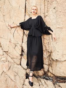 曾女装黑色时尚连衣裙