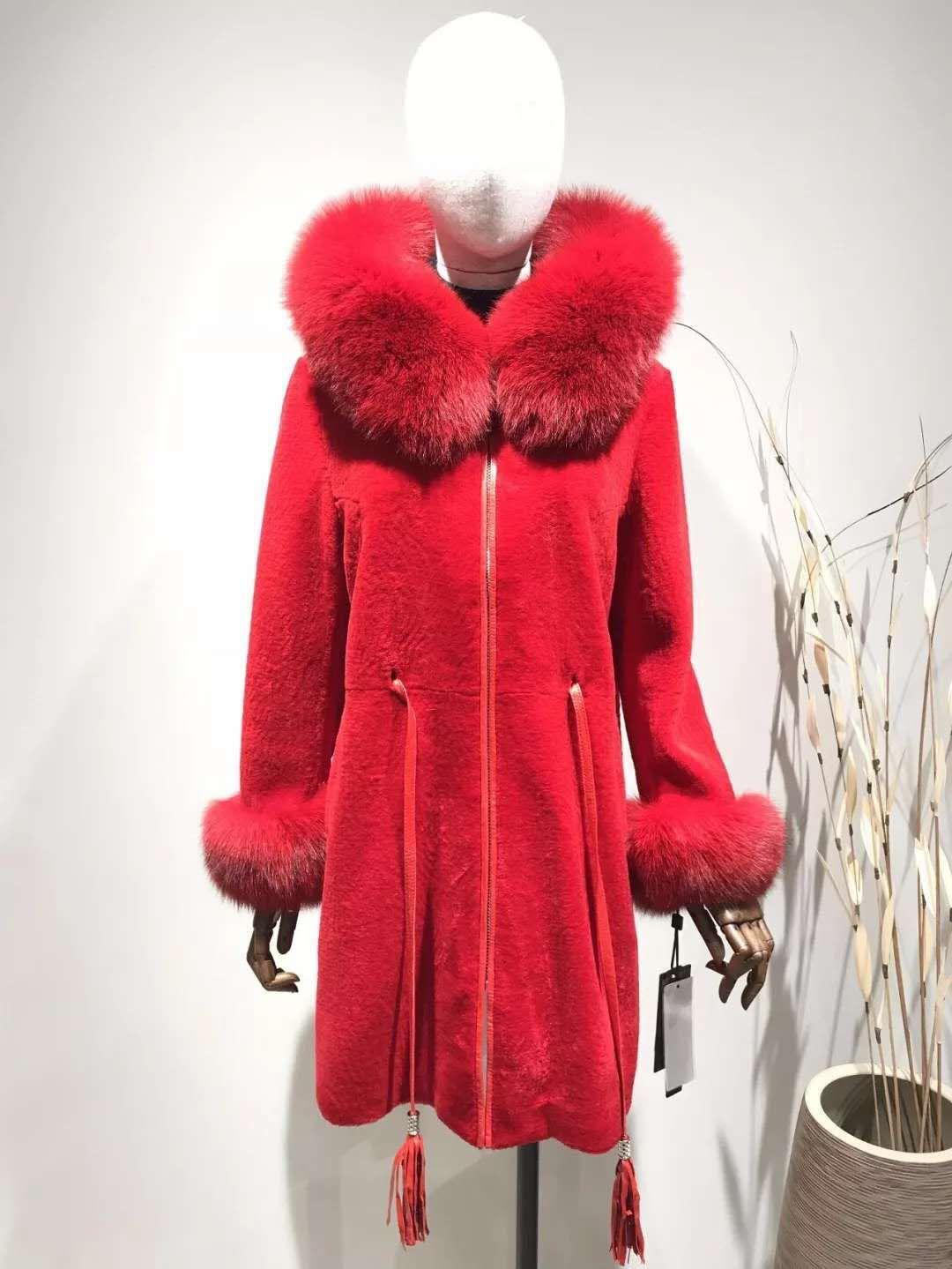 紫仙狐品牌女装羊剪绒尾货货源