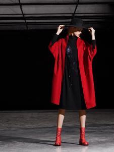 缘尚儿女装缘尚儿女装红色五分袖大衣