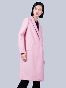 S&D女装粉色休闲大衣