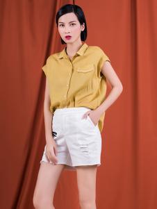 S&D女装黄色短袖衬衫