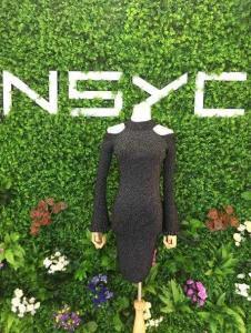NSYC女装黑色露肩连衣裙