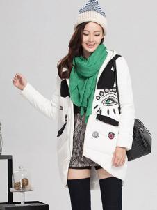 YC630女装白色休闲棉衣