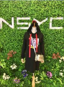 NSYC女装黑色休闲连衣裙