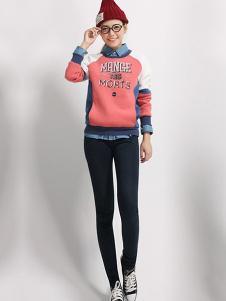 INTURN女装粉色时尚卫衣