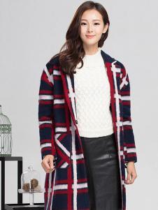 YC630女装格子时尚大衣