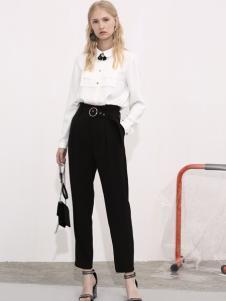 2018betu百图女装秋白色衬衫