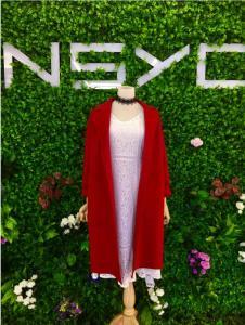 女神衣仓女装NSYC女装红色长款外套