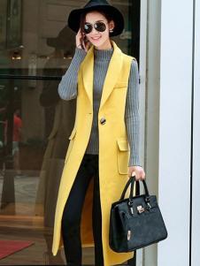 X-RUI女装黄色时尚马甲