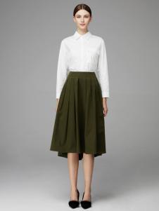 2018凡恩女装白色衬衫