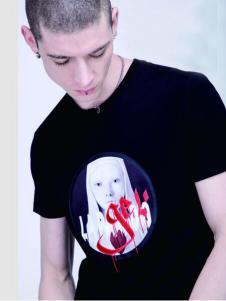 99CM春夏新款人物印花T恤