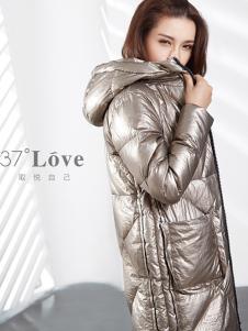 37°love女装18新款时尚羽绒服