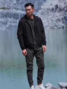 99cm秋冬新款连帽黑色外套