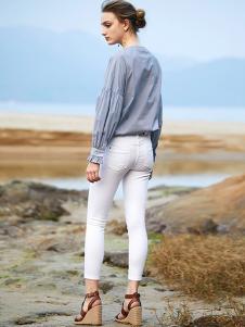 SITI女装灰色时尚T恤
