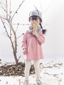 开心仔童装粉色休闲女裙