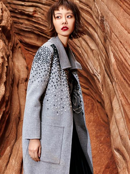 2018印巴文化时尚灰色大衣