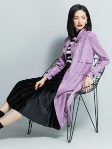 2018优衣美女装浅紫色外套