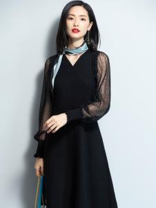 2018优衣美女装小黑裙