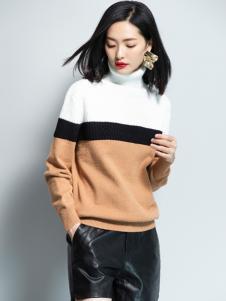 2018优衣美女装高领毛衣
