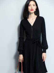 2018优衣美女装优雅小黑裙