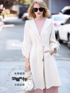 芝麻e柜秋冬新款白色大衣
