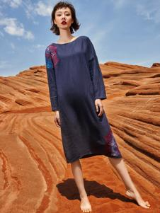 2018印巴文化女装文艺连衣裙
