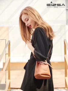 艾卓拉女装黑色时尚连衣裙