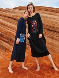 2018印巴文化女装民族风连衣裙