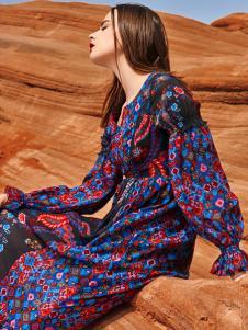 2018印巴文化女装唯美印花裙