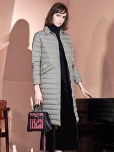 绫罗约女装灰色休闲棉衣