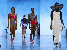 登上纽约时装周的女装品牌Chromat让你穿T恤游泳