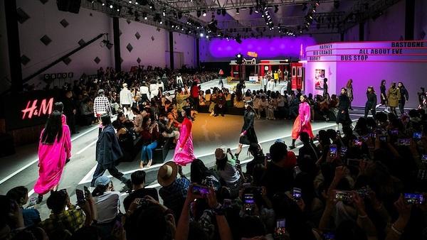 H&M 在中国首次走秀 走的是高端线的秋冬款