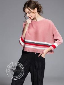 格蕾斯(芝麻e柜)女装秋冬新款粉色短卫衣